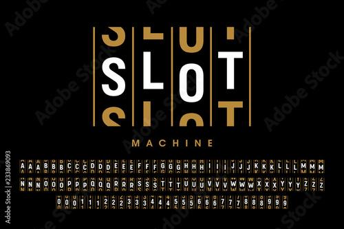 Fotografia  Slot machine style modern font design, alphabet letters