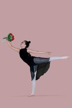 Young Ballet Dancer Dancing Wi...