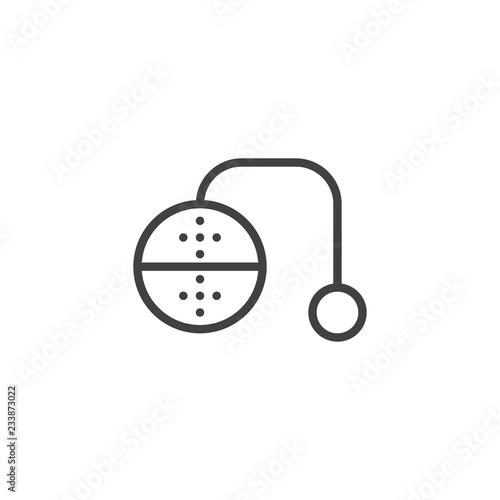 Valokuva  Tea infuser outline icon