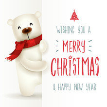 Polar Bear With Big Signboard....