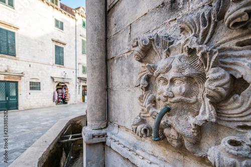 Fényképezés  Dubrovnik Stradun street Onofrio Fountain