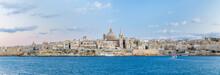 Panoramic View Of Valletta Wit...