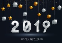 Happy New Year 2019 Christmas Hd Wallpaper