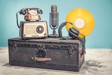 Retro Radio From 60s, Old Copp...