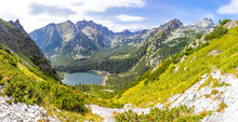 Panoramic View Of Lake Popradske Pleso In High Tatras Mountains, Slovakia