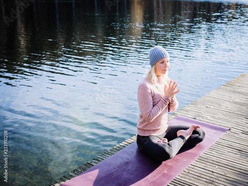 Meditation lotus pose
