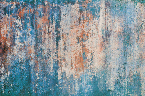 Old vintage color shabby wall texture Fototapet