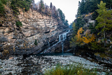Cameron Falls In The Autum, Waterton Lake National Park, Alberta, Caanda