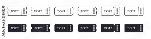 Fotografía set of Ticket icons. Line and flat design