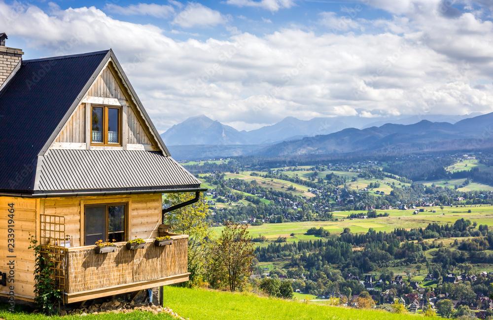 Fototapety, obrazy: Tatry Mountains and Zakopane city surroundings