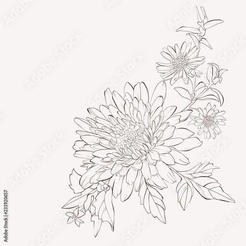 Vászonkép Vector dahlia flower