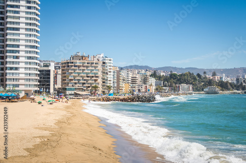 Fototapeta  Acapulco beach - Vina del Mar, Chile