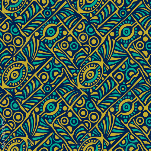 Seamless tribal vector pattern Canvas Print
