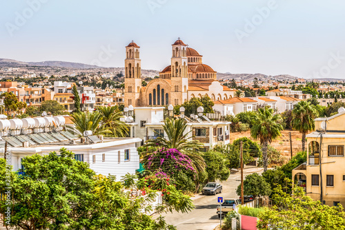 Photo Stands Cyprus View of the city of Paphos in Cyprus. Paphos is known as the center of ancient history and culture of the island. It is very popular as a center for festivals and other annual events.