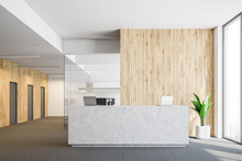 Concrete Reception In Wooden O...