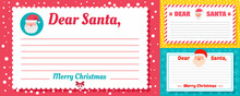 Santa Letter Banner Set. Flat ...