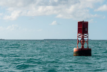 Red Navigation Bouy Key West Florida