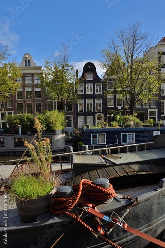 Photo canal in amsterdam