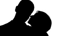 Young Lady Whispering Love Words Into Males Ear, Tender Behavior, Flirting
