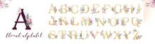 Gold Glitter Letter Alphabet. ...