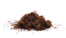 Pile Tobacco Isolated On White Background