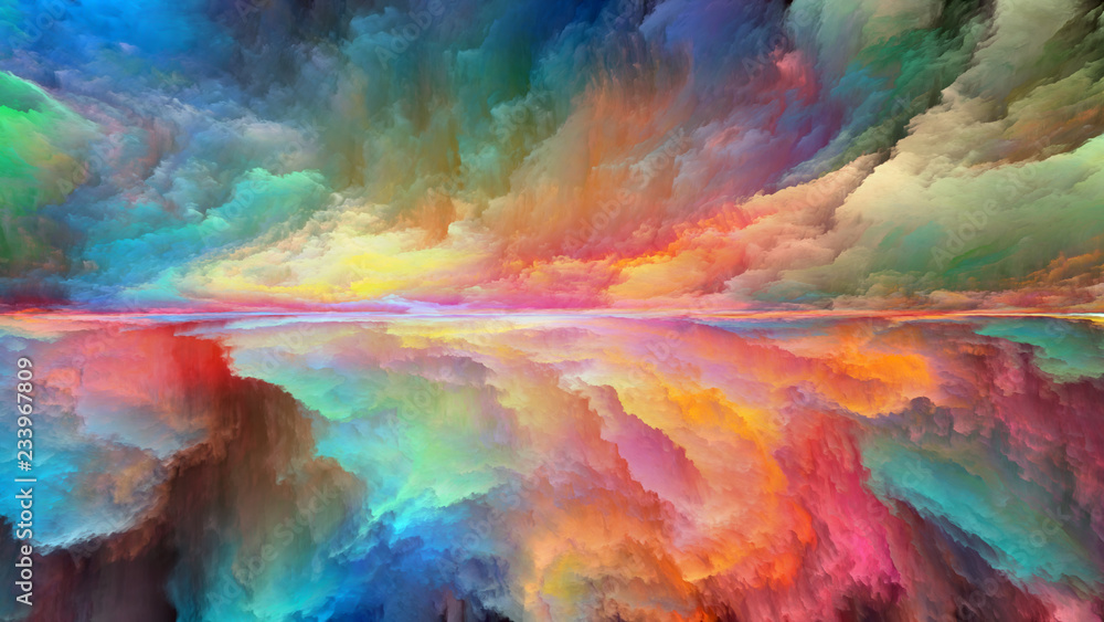 Fototapety, obrazy: Colorful Abstract Landscape