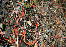 Bunch Of Old Automobile Wires And Cables.