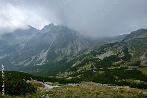 western carpathian mountain panorama in clear day