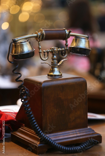 Poster Amsterdam Antique telephone receiver
