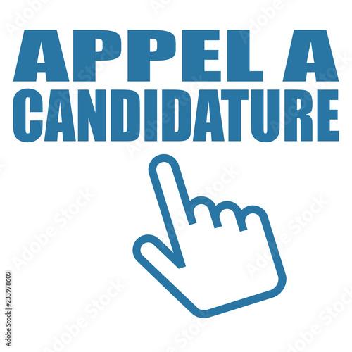 Logo appel à candidature. Tapéta, Fotótapéta