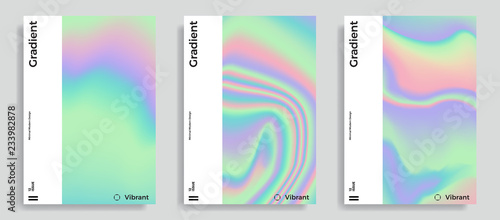 Fotografia  vibrant gradient holographic background