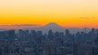 4K・東京風景・タイムラプス・富士山と大都会