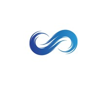 Infinity Water Wave Logo Vector
