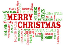 Merry Christmas Word Cloud Concept