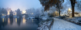 Fototapeta Nowy York - Gapstow bridge during winter, Central Park New York City. USA