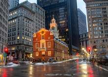 Old State House In Boston, USA