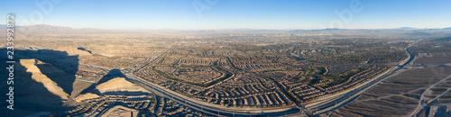 Canvas Prints Las Vegas Aerial Panorama of Housing Developments Near Las Vegas, Nevada