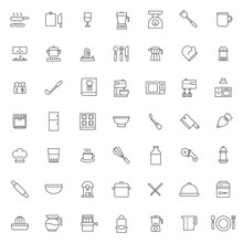 Big Set Of Kitchen Set Icons V...