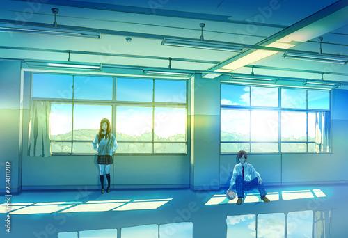 教室で佇む高校生 - 234011202