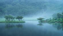 赤城山 朝霧の覚満淵