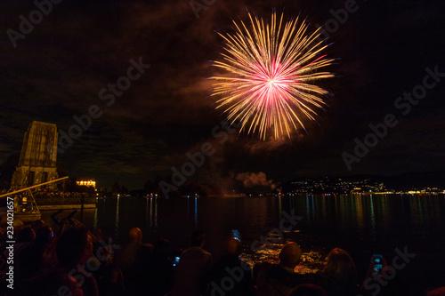 Fuochi d'artificio, Lago Maggiore, Verbania, Italia #234021657