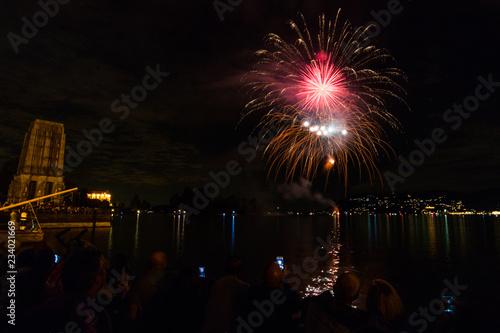 Fuochi d'artificio, Lago Maggiore, Verbania, Italia #234021669