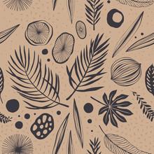 Seamless Tropical Pattern. Vec...