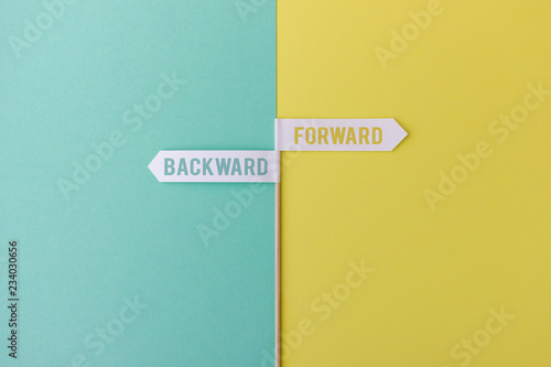 Two arrows showing in opposite directions: Forward vs backward Canvas Print