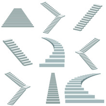 Stairs Vector Illustration Iso...
