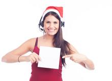 Christmas Phone Operator Woman...