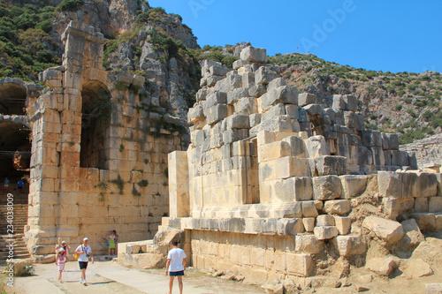 Valokuva  Ancient Greek-Roman amphitheatre in Myra, old name - Demre, Turkey