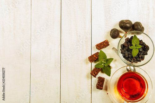 A cup of tea on a white table Traditional Arabic, Turkish Ramadan