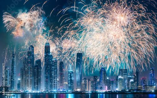 Fotografie, Obraz  Dubai Marina bay view from Palm Jumeirah, UAE