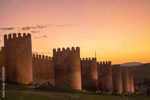 Carta da parati Burg, Avila, Kastilien und Leon, Spanien